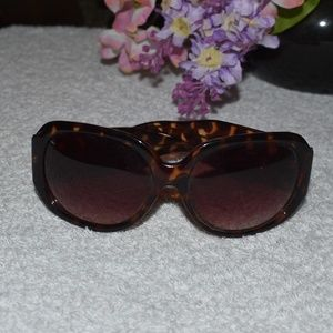 Jessica Simpson Brown Tortoise Shield Sunglasses